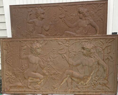 2 RARE C.1890 Tin Wall Panels feat. ANGELS ~ Victorian Architectural Elements