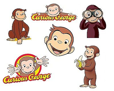 Curious George Monkey 8 X 10 T-shirt Iron on Transfer for light fabric