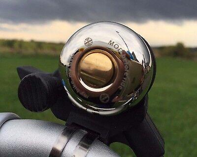 Brompton Nickel Plated Brass Bell w FREE twist screw  (MiniMODs) ()
