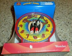 Looney Tunes Taz Tasmanian Devil KEY WOUND ALARM Clock 1997 Westclox NIP