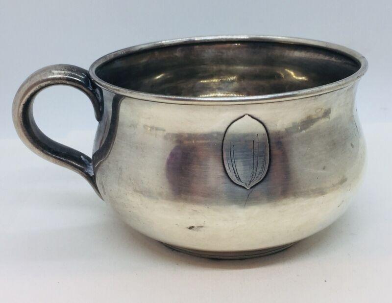 Tiffany & Co. Antique Sterling Silver Acorn/Walnut Large Mug Cup