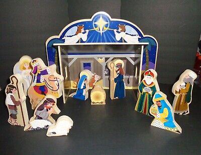 Classic Wooden Christmas Nativity Set Melissa and Doug, Child Friendly