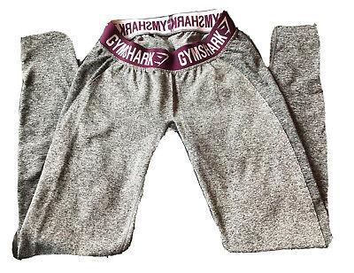 Gymshark Flex Charcoal Gray Marl and Maroon Leggings.  Size medium