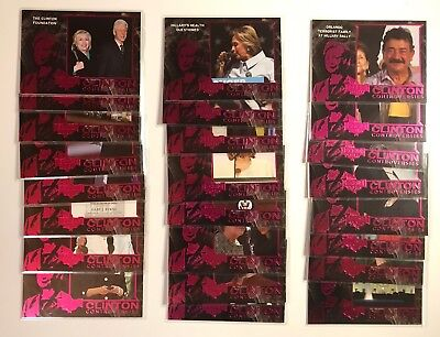 Decision 2016 Hillary Clinton Controversies Complete Set Series 2 Pink  1 24