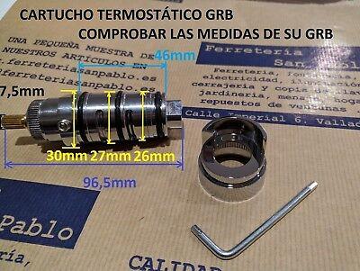 CARTUCHO TERMOSTATICO 040102 DE GRIFO GRB GROBE PARA REPUESTO BAÑO DUCHA recambi