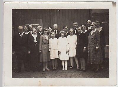 (F28754) Orig. Foto Gruppenbild zur Kommunion 1931