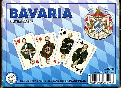Bavaria Playing Cards Non-Standard Double Deck by Piatnik New Sealed