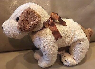 "Ty Beanie Buddy RUFUS 12"" Beige/Tan Puppy Dog Plush"