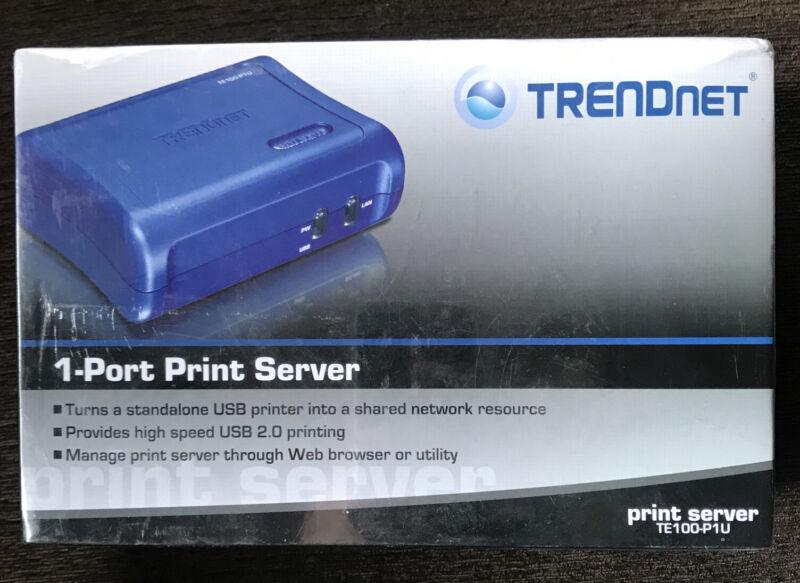 New TRENDnet Print Server TE199-P1U 1-port