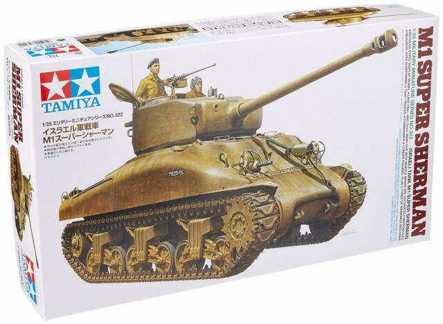 Tamiya 35322 1/35 Israeli Tank M1 SUPER SHERMAN from Japan Rare