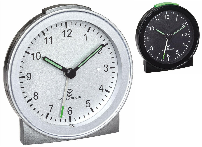 TFA 60.1517 Funkwecker analog lautlos Snooze Reisewecker Sweep Uhrwerk