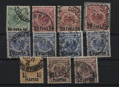 Deutsche Post in der Türkei 6-10 überkomplett gestempelt 8 Werte geprüft(B05533)
