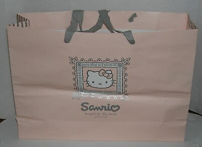 Halloween Clothing Stores (Hello Kitty Gift Bag Sanrio Store Exclusive 2003 Large Pink Cloth Handles)