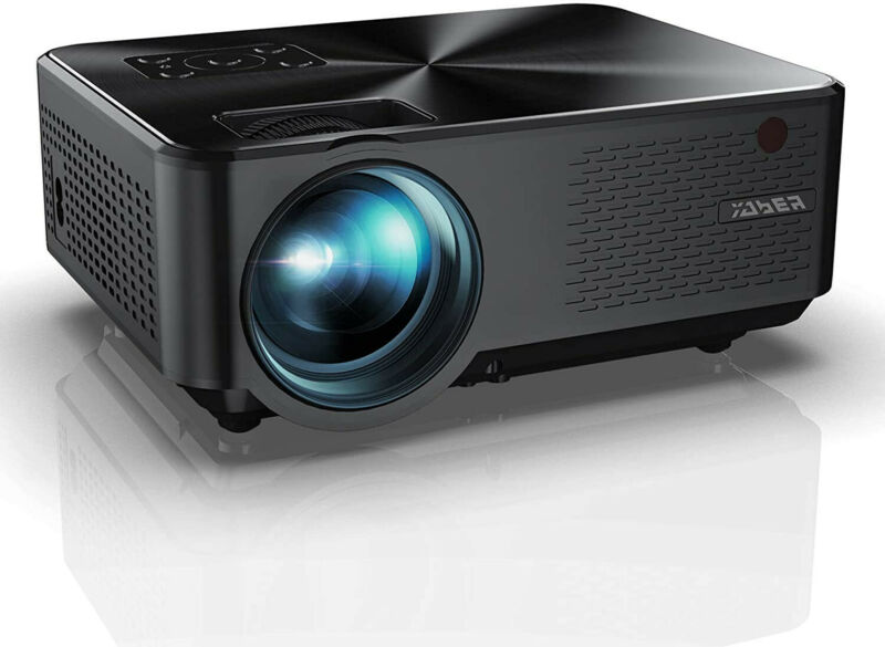 YABER Y60 Portable Projector with 5500 Lumen Upgrade Full HD 1080P - Silver