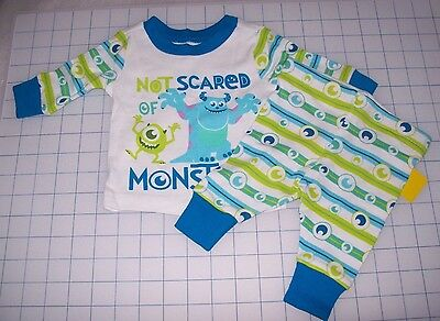 BOYS DISNEY MONSTERS INK PJ PALS FOR BABY LONG SLEEVE LONG PANTS NEW WITH TAGS - Pj For Boys