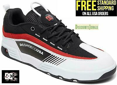 DC Men's Legacy 98 Slim Skateboarding Skate Shoes - Black/White/Red Size 7-13