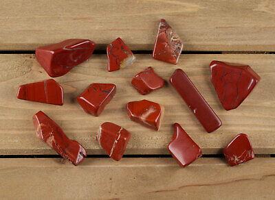 RED JASPER Tumbled Stones- Healing Crystals, Unique Gift, Meditation Stone E0021