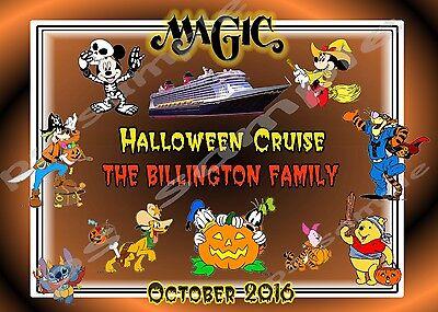 8X10 CUSTOM Disney Cruise Door Magnet - HALLOWEEN #1 - Characters