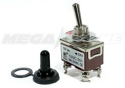 Heavy Duty 20a125v Dpst On-off Toggle Switch Wwaterproof Boot... Usa Seller