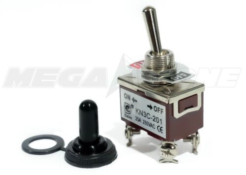 Toggle Switch Heavy Duty 20A/125V DPST On-Off w/Waterproof Boot... USA SELLER!!!