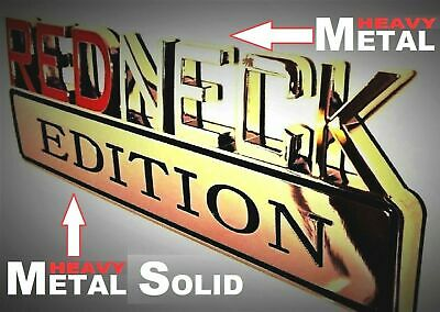 METAL Redneck Edition Emblem HIGHEST QUALITY ON EBAY GMC Truck Tailgate Lid Logo