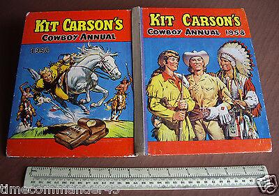 1958 Kit Carson's Cowboy Annual. A Classic Western Annual for British Boys comprar usado  Enviando para Brazil