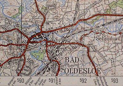 2128 Bad Oldesloe, topographische Karte, 1:50.000, gedruckt 1961, ungefaltet !!