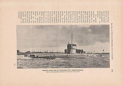Unterseeboot England Marine U-Boot DRUCK von 1913 Kriegsmarine