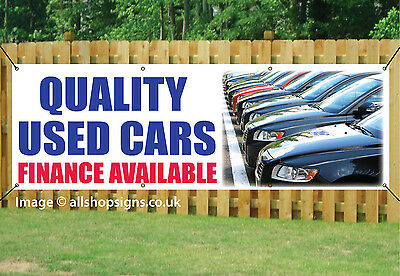 QUALITY USED CAR SALE OUTDOOR SIGN GARAGE BANNER waterproof PVC + Eyelets 003