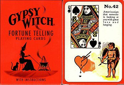 Gypsy Witch Fortune Telling Playing Cards Poker Size Deck USGS Custom - Gypsy Witch Deck
