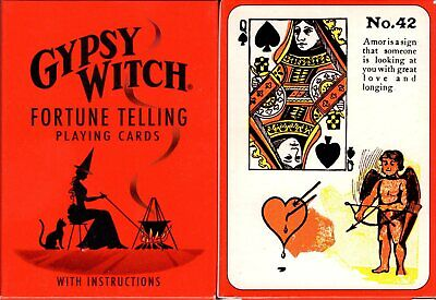 Gypsy Witch Fortune Telling Playing Cards Poker Size Deck USGS Custom New Gypsy Witch Deck