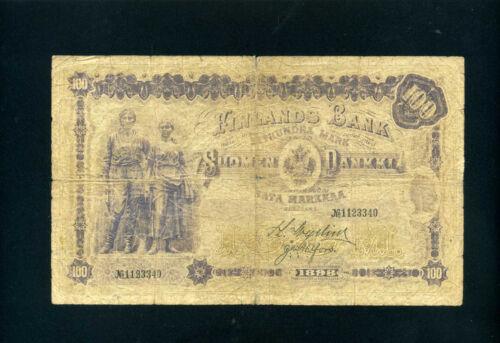 Finland 100 markkaa 1898 - F
