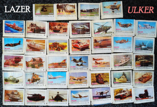 LAZER Ulker 39 inserts, bubble gum wrappers of the 90-s