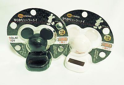 Black and White Mickey Mouse Official Disney Solar Suncatchers from Japan x 2