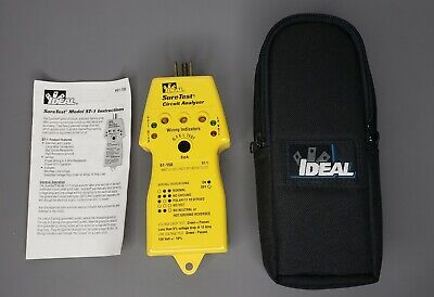 Ideal Suretest Circuit Analyzer Model 61-150 St-1 With Manual