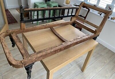 Victorian Or Edwardian? Chaise Longe Upholstery Project Stripped To Frame
