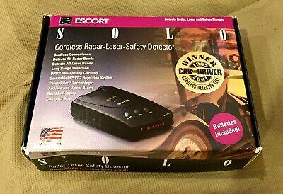 エスコートソロRD-5110電源コード付きコードレスレーダー探知機新しい