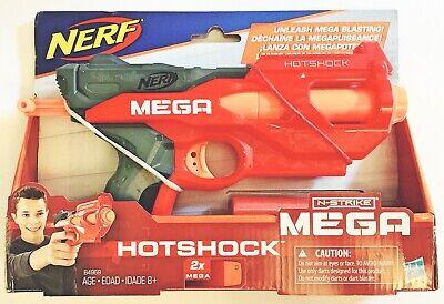 Nerf N-Strike Hotshock Mega Dart Blaster w/ 2 Darts Hasbro NEW