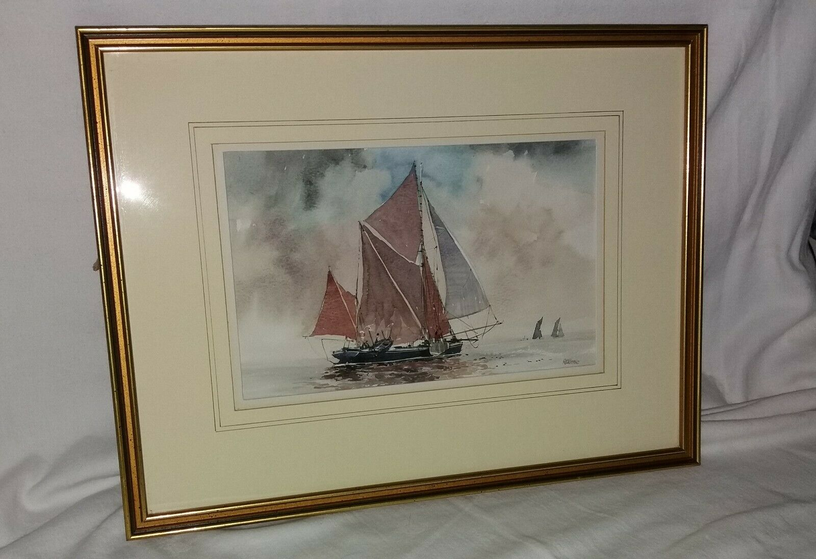 ROBERT BOAR     FULL SAIL   1992     Signed  Watercolour