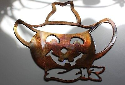 Scarecrow Pumpkin Fall Decor Metal Wall Art