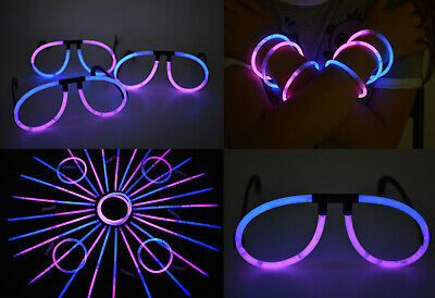 Pink Glow Sticks (DirectGlow 50ct Blue Pink Stick Glasses Bracelets Party Supply)