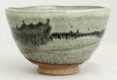 Vintage Japanese Ceramic Stoneware Glazed Chanoyu Tea Bowl