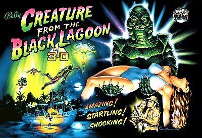 Bally Creature From The Black Lagoon CFTBL Pinball Machine Translite