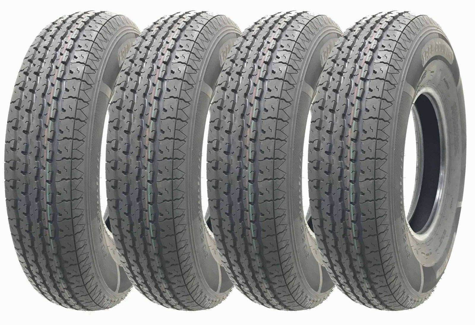 4 New Free Coutntry Trailer Radial Tires ST205 90R15 10PR Load Range E - 11081