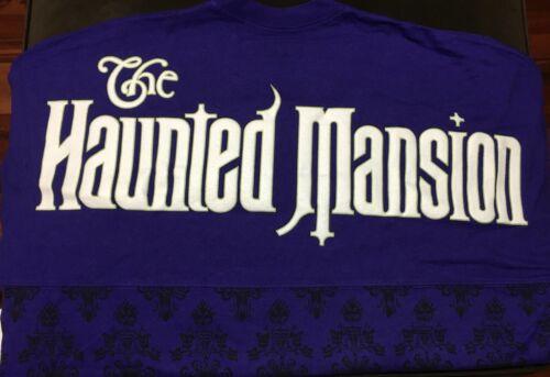 BNWT 2018 HAUNTED MANSION WALLPAPER GHOST HOST SPIRIT JERSEY GITD MEDIUM