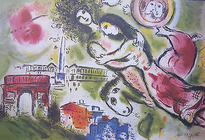"MARC CHAGALL ""ROMEO & JULIET"" Signed Numbered Lithograph Art"