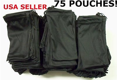 Cheap Bulk Lot 75 Black Micro Fiber Sunglasses Carrying Pouch Case Bag Sleeve