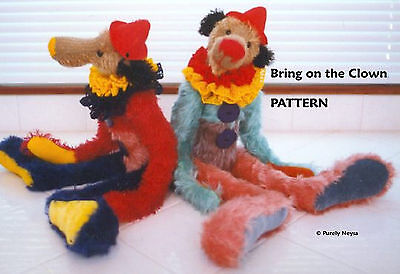 "Mohair ""Bring on the Clown""  Teddy Bear PATTERN by Neysa A. Phillippi"