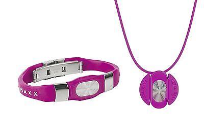 Vitalarmband+Kette. »Vital*Maxx« Hologramm Pink. NEU!!! UVP 39,99 €