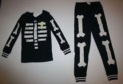 NEW Gymboree Boys Skeleton Halloween Gymmies PJs Black 2T 3 4 5 7 8 10 12 14 - Boys Skeleton Pajamas